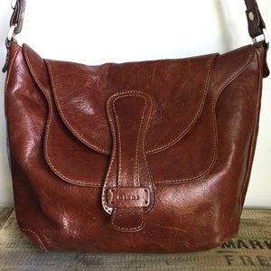 Guidi brown Leather Vintage Shoulder Handbag